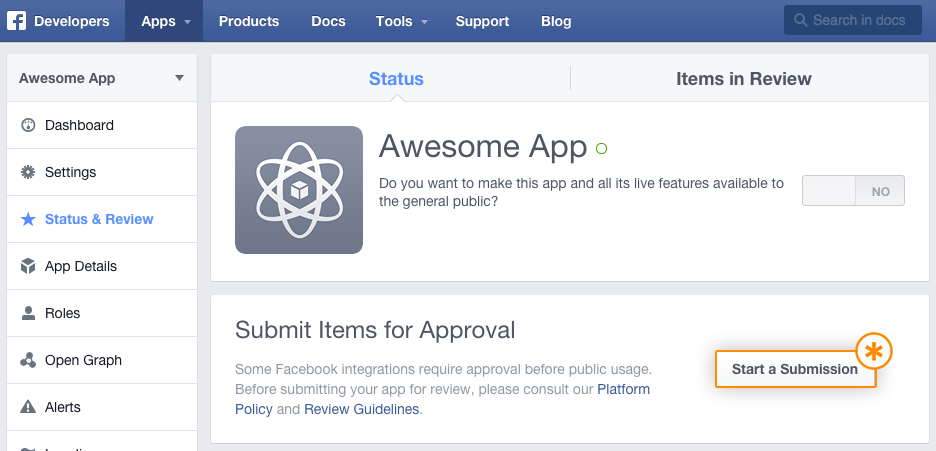 3_How to submit facebook app for approval_Tudip
