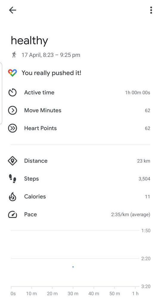 Add Manual Data for Google Fit Device