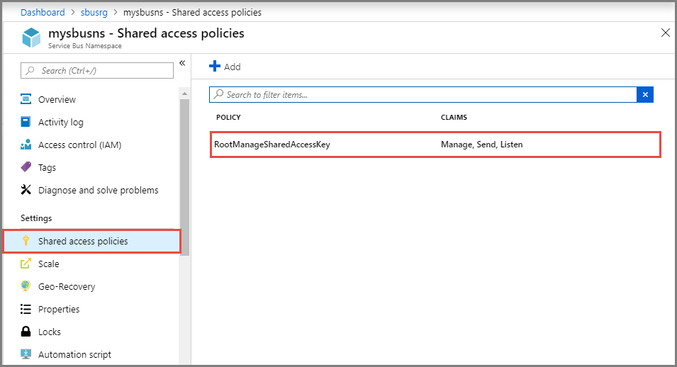 shared-access-policies