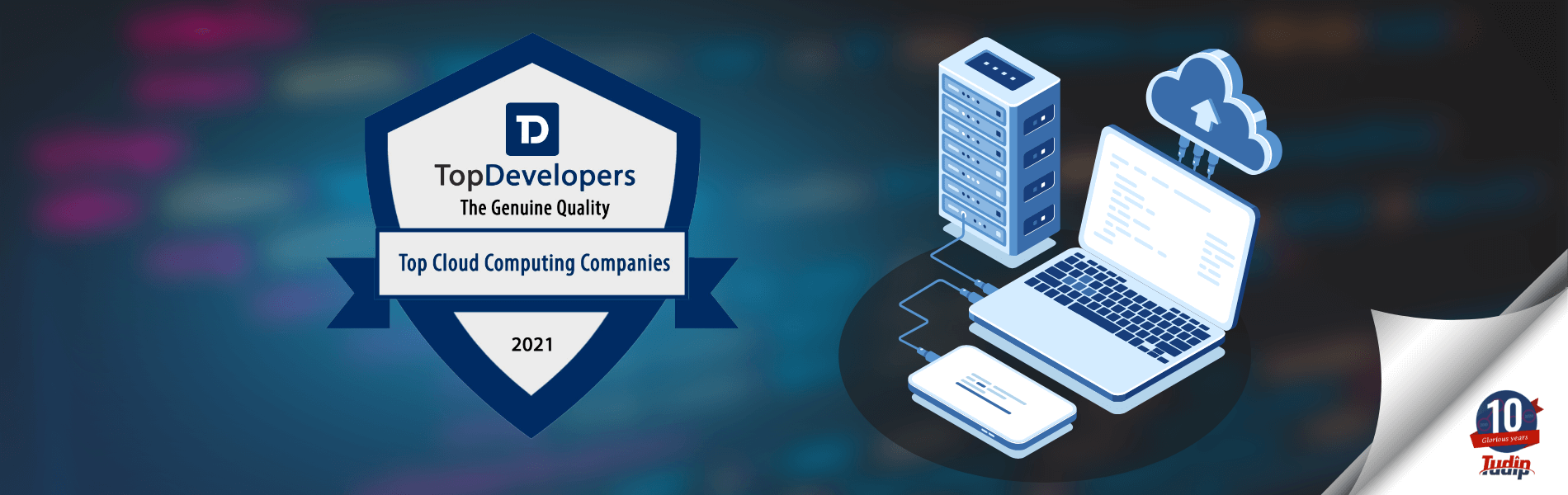 Tudip has been announced as one of the Top Cloud App Development Companies of 2021